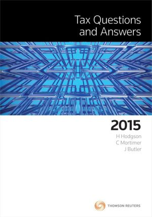 Cover of Tax Questions and Answers 2015
