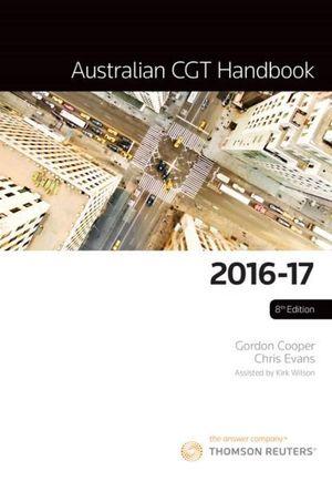Cover of AUSTRALIAN CGT HANDBOOK 2016-17
