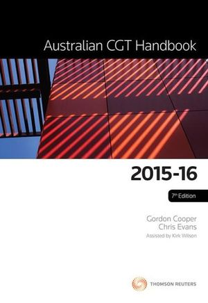 Cover of Australian Cgt Handbook 2015-16