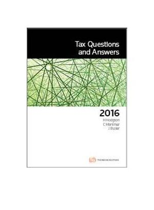 Cover of Tax Questions and Answers 2016