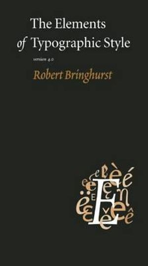 Cover of The Elements of Typographic Style