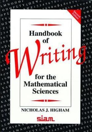 Cover of Handbook of Writing for the Mathematical Sciences