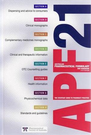 Cover of Australian Pharmaceutical Formulary and Handbook /|c[Lloyd Sansom, Chairman, Editorial Board].