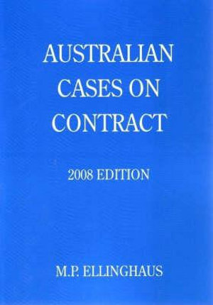 Cover of Australian Cases on Contract