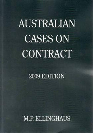 Cover of Australian Cases on Contract 2009 Edition