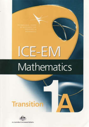 Cover of ICE-EM Mathematics Transition 1a
