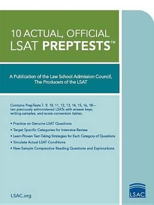 Cover of 10 Actual, Official LSAT Preptests