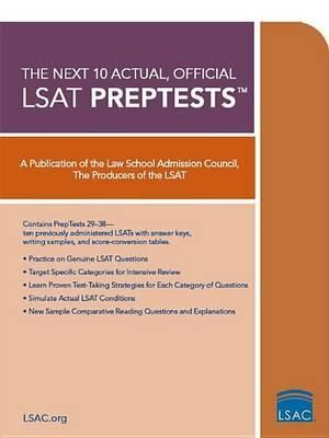 Cover of The Next 10 Actual, Official LSAT Preptests