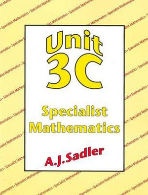 Cover of A Book for Unit 3C of the West Australian Mathematics