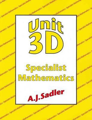 Cover of A Book for Unit 3D of the West Australian Mathematics