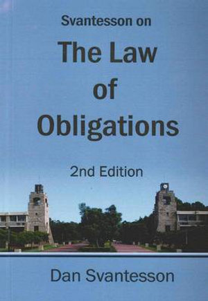 Cover of Svantesson on the Law of Obligations