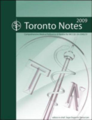 Cover of The Toronto Notes 2009