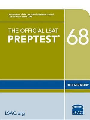 Cover of The Official LSAT Preptest 68