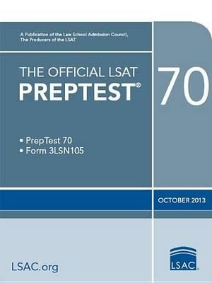 Cover of The Official LSAT Preptest 70