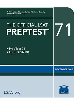 Cover of The Official LSAT Preptest 71