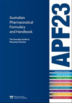 Cover of Australian Pharmaceutical Formulary and Handbook
