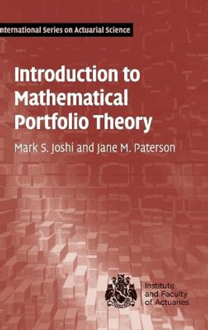 Cover of Introduction to Mathematical Portfolio Theory