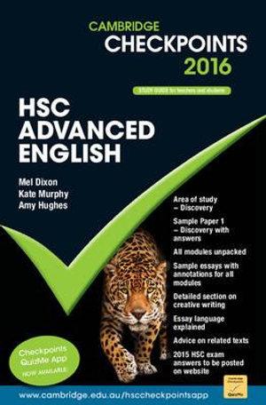 Cover of Cambridge Checkpoints HSC Advanced English 2016