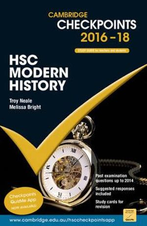 Cover of Cambridge Checkpoints HSC Modern History 2016-18