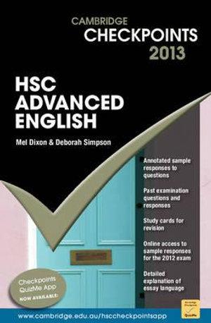 Cover of Cambridge Checkpoints HSC Advanced English 2013