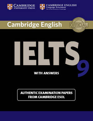 Cover of Cambridge IELTS 9 Student's Book with Answers
