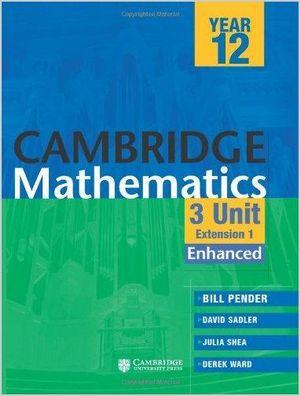 Cover of Cambridge 3 Unit Mathematics Year 12 Enhanced Version