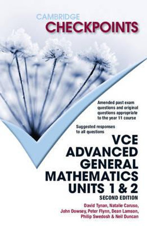 Cover of Cambridge Checkpoints VCE Advanced General Maths Units 1 and 2