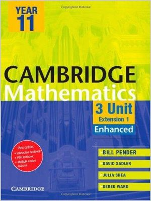 Cover of Cambridge 3 Unit Mathematics Year 11 Enhanced Version