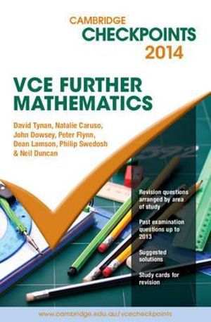 Cover of Cambridge Checkpoints VCE Further Mathematics 2014