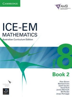 Cover of ICE-EM Mathematics Australian Curriculum Edition Year 8