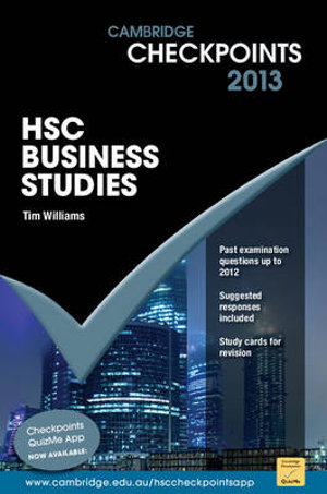 Cover of Cambridge Checkpoints HSC Business Studies 2013