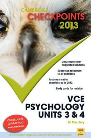 Cover of Cambridge Checkpoints VCE Psychology Units 3 and 4 2013