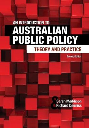 Cover of An Introduction to Australian Public Policy