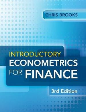 Cover of Introductory Econometrics for Finance
