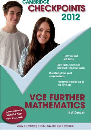 Cover of VCE Further Mathematics 2012