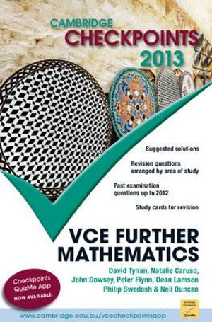 Cover of Cambridge Checkpoints VCE Further Mathematics 2013