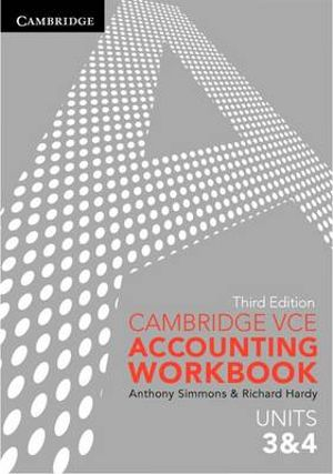 Cover of Cambridge VCE Accounting Units 3 and 4 Workbook
