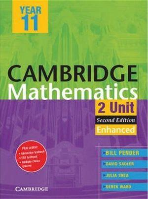 Cover of Cambridge 2 Unit Mathematics Year 11 Enhanced Version PDF Textbook
