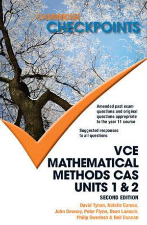 Cover of Cambridge Checkpoints VCE Mathematical Methods CAS Units 1 and 2
