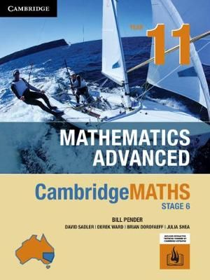 Cover of Cambridgemaths Stage 6 Mathematics Advanced Year 11