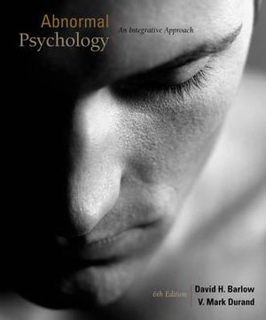 Cover of Abnormal Psychology: An Integrative Approach