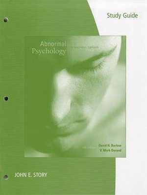 Cover of Study Guide for Barlow/Durand's Abnormal Psychology: An Integrative Approach