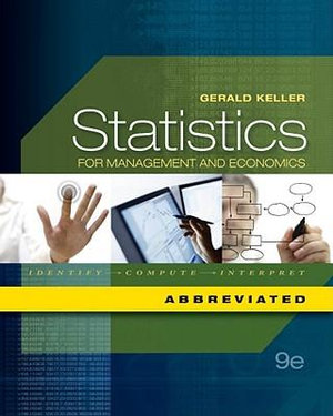 Cover of Statistics for Management and Economics, Abbreviated Edition (with  Essential Textbook Resources Printed Access Card)