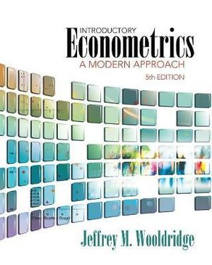 Cover of Introductory Econometrics : A Modern Approach