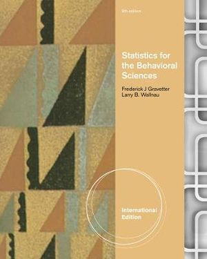 Cover of Statistics for the Behavioral Sciences