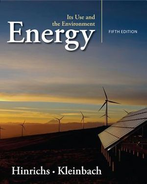 Cover of Energy : Its Use and the Environment