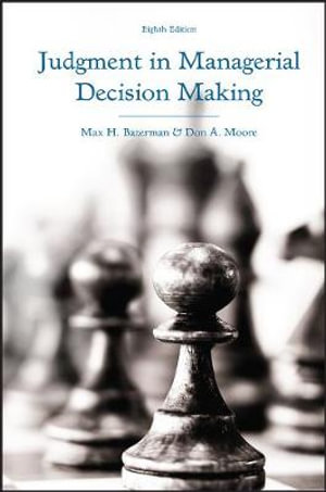 Cover of Judgment in Managerial Decision Making