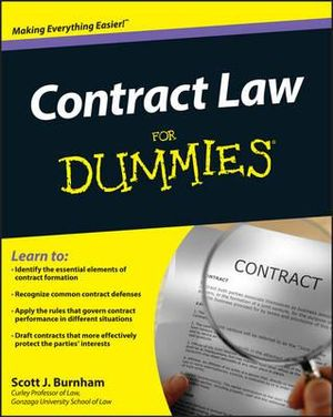 Cover of Contract Law For Dummies