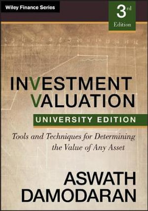 Cover of Investment Valuation, Third Edition