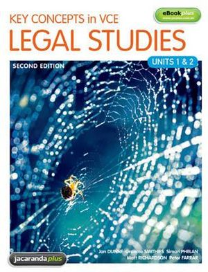 Cover of Key Concepts in VCE Legal Studies Units 1 & 2 2E & eBookPLUS